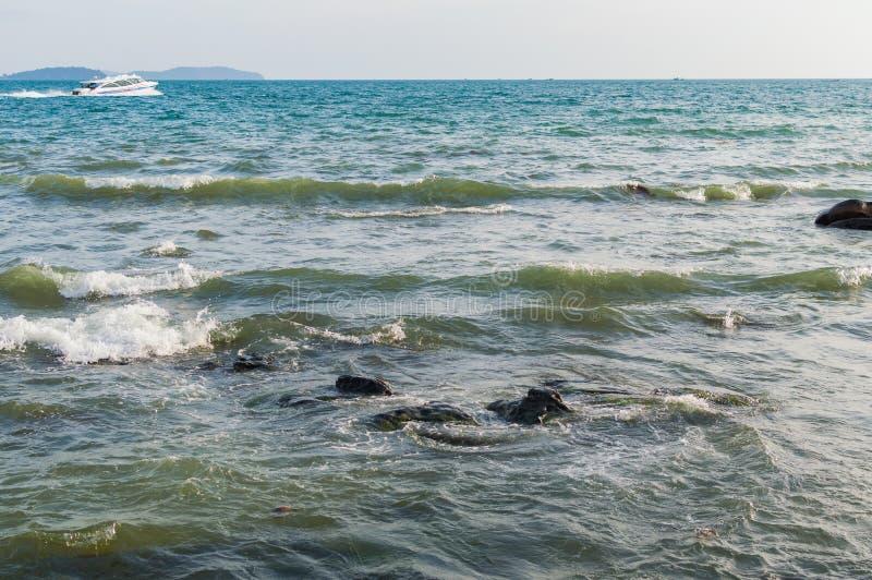 Denny brzeg w Sihanoukville plaży zdjęcie royalty free