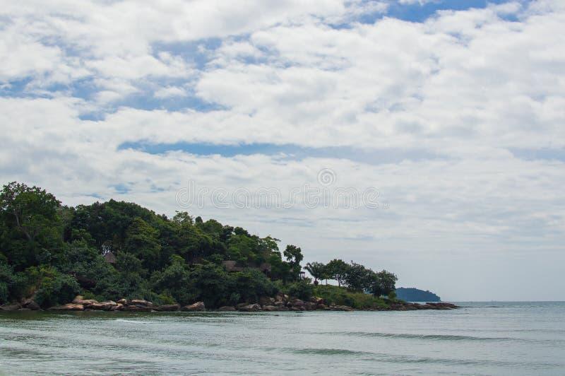 Denny brzeg w Sihanoukville plaży fotografia stock