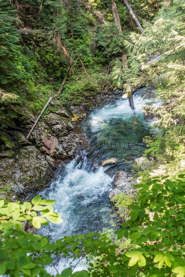 Denny Creek Flowing imagem de stock royalty free