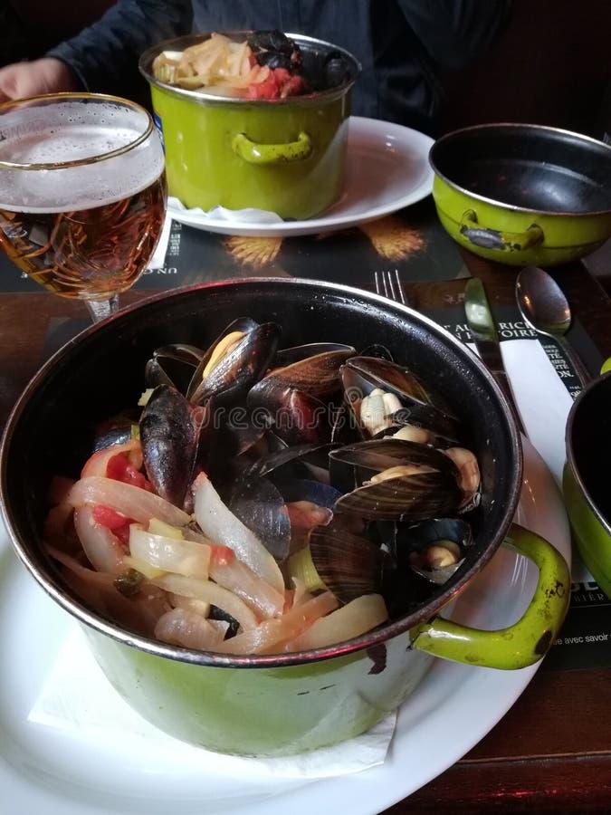Denny jedzenie szczególnie w Brussel fotografia royalty free