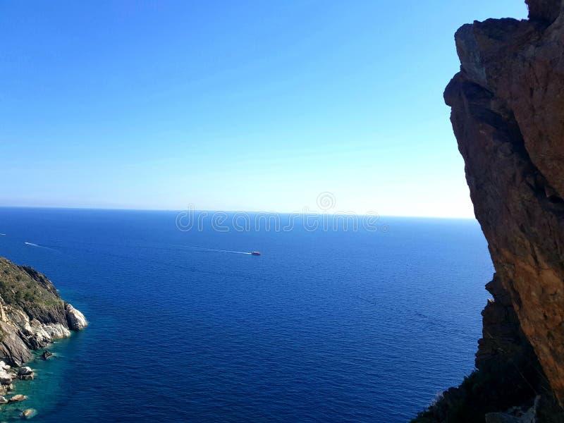 Denny mediterrane isly Elba fotografia royalty free