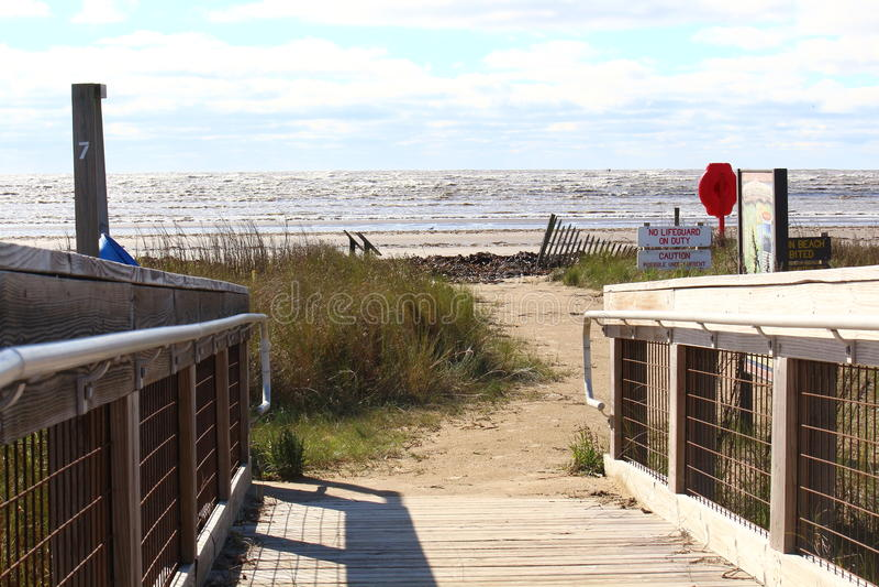 Denny obręcz plaży boardwalk zdjęcie royalty free
