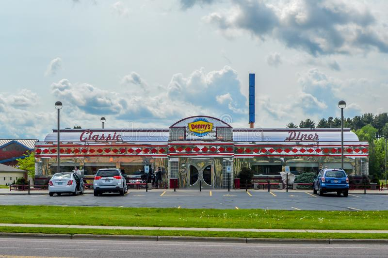 Denny's Classic Diner - Wisconsin Dells, WI zdjęcia stock