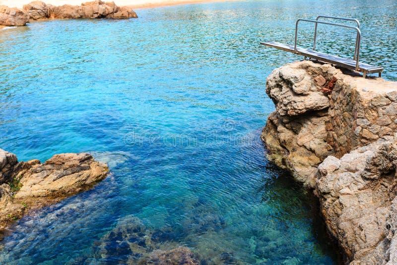 Denny skalisty wybrzeże, Hiszpania zdjęcie stock