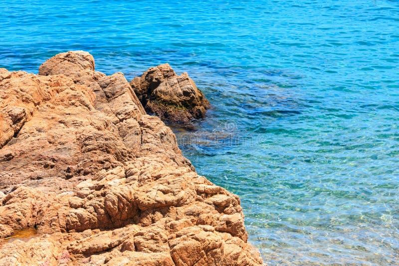Denny skalisty wybrzeże, Hiszpania fotografia stock
