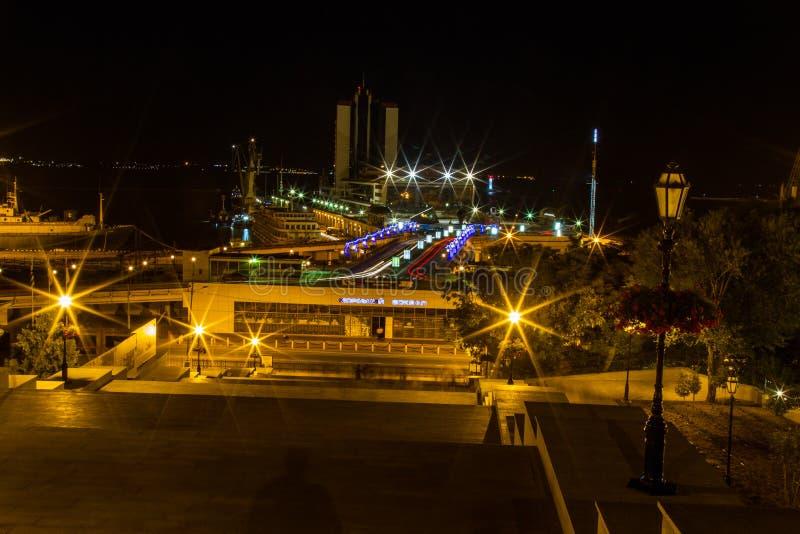 Denny terminal w mieście Odessa obrazy stock