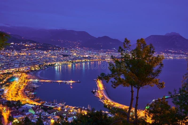 Denny wybrzeże Alanya, Turcja fotografia royalty free