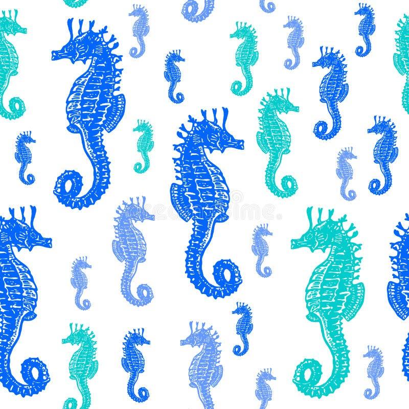 Dennych koni colourful bezszwowy wzór ilustracji
