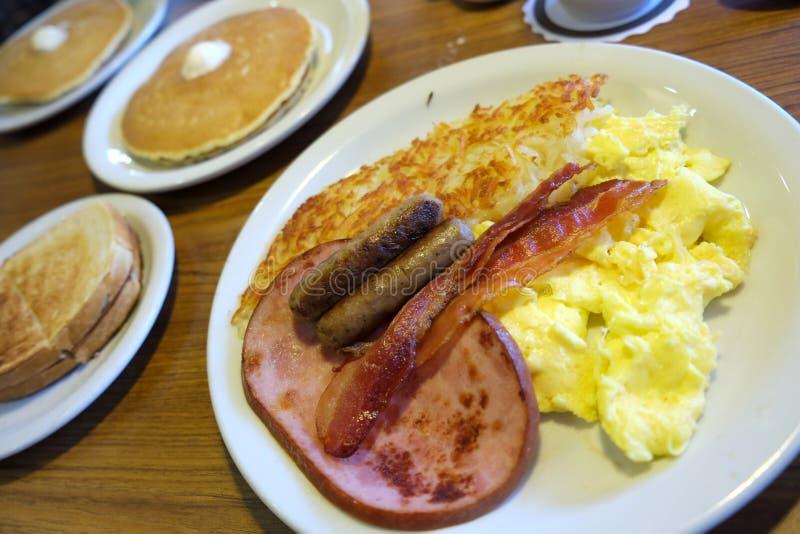 Dennys早餐 图库摄影