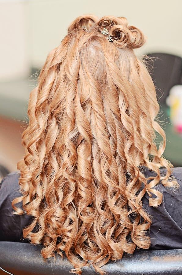 Denominação do cabelo encaracolado foto de stock