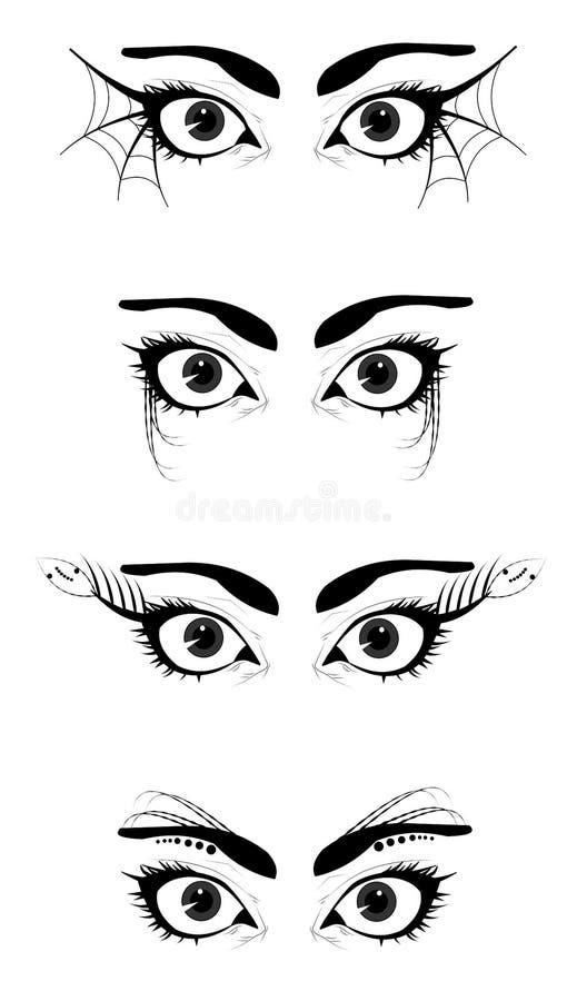 Denominação do olho imagens de stock