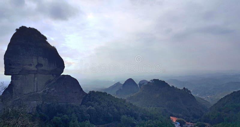 Denominação estranha da montanha, fazendo povos corar fotografia de stock