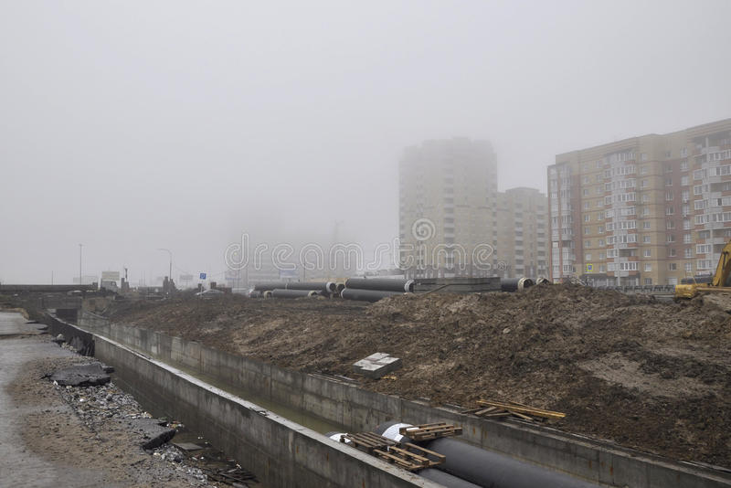 Download Dense Fog In The City, Houses Practically It Isn't Visible Editorial Stock Photo - Image: 35067083
