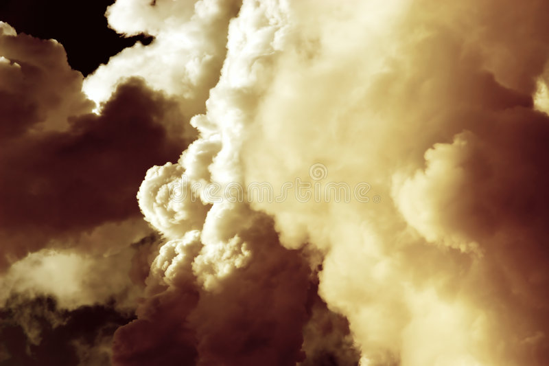 Dense red clouds stock photo