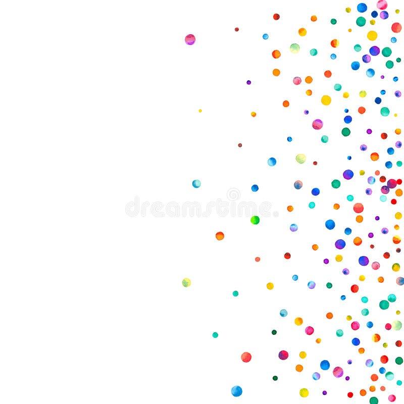 Dense watercolor confetti on white background. vector illustration