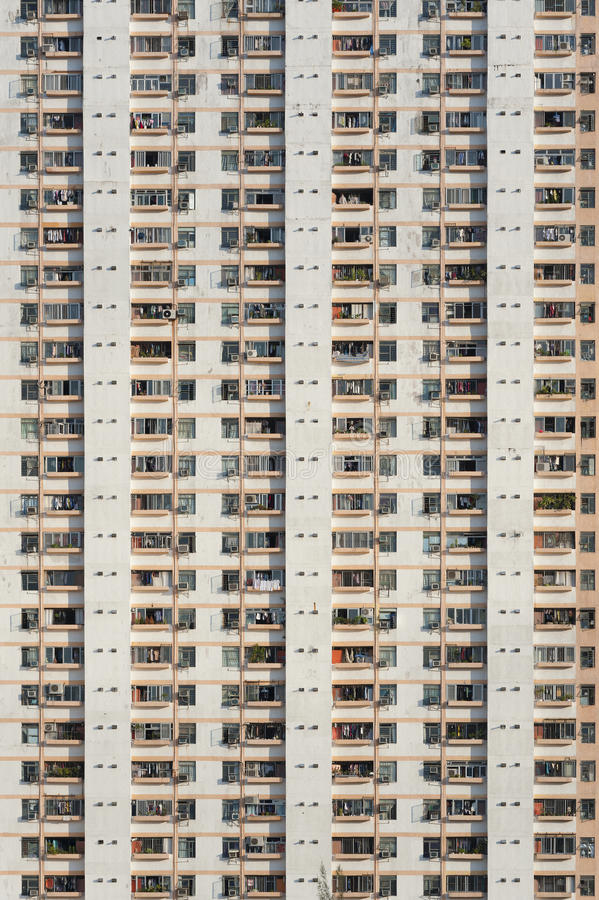 Densed Apartment building royalty free stock image