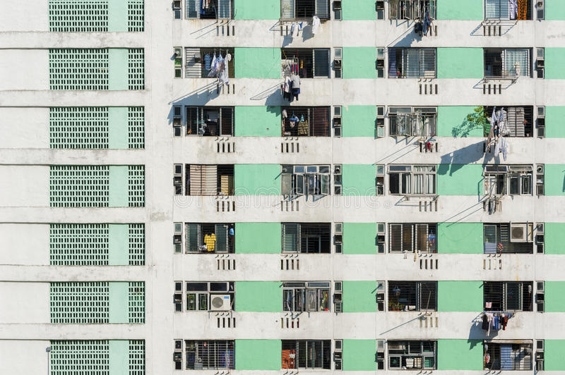 Densed Apartment building royalty free stock images
