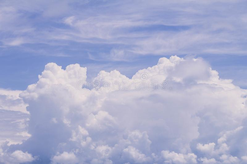 A densely cloudy sky with storm clouds. Resource for designers stock photography