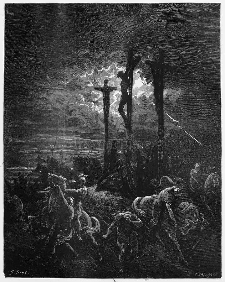 Densité à la crucifixion images stock
