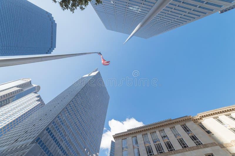 Denso de edificios altos del horizonte en Dallas céntrica, Tejas, los E.E.U.U. w imágenes de archivo libres de regalías