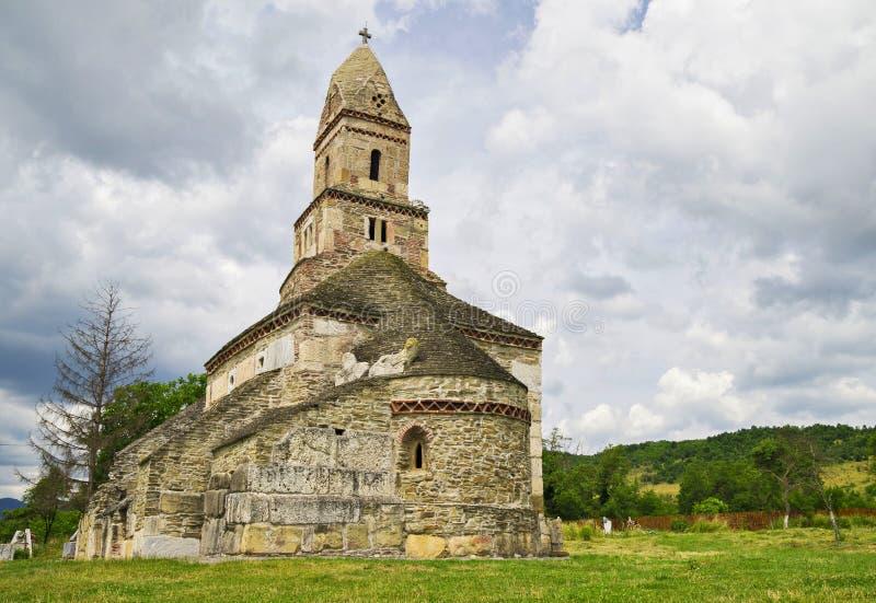 DensuÈ™教会(圣尼古拉斯的教会),罗马尼亚 免版税库存图片