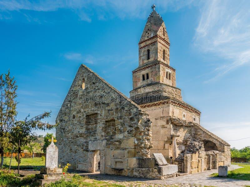 Densus Christian church, Hunedoara, Romania royalty free stock photo