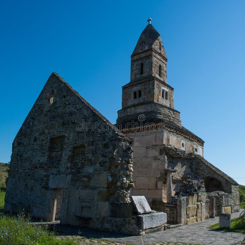 Densus Christian Church ( Saint Nicholas' Church ), Hunedoara, Romania royalty free stock image