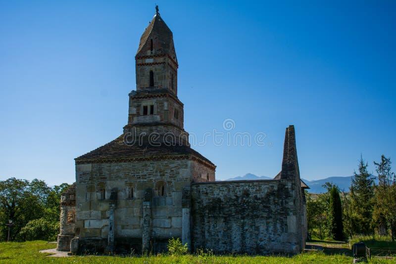 Densus Christian Church ( Saint Nicholas' Church ), Hunedoara , Romania. Densus Christian Church (Saint Nicholas' Church), Hunedoara, Romania royalty free stock image