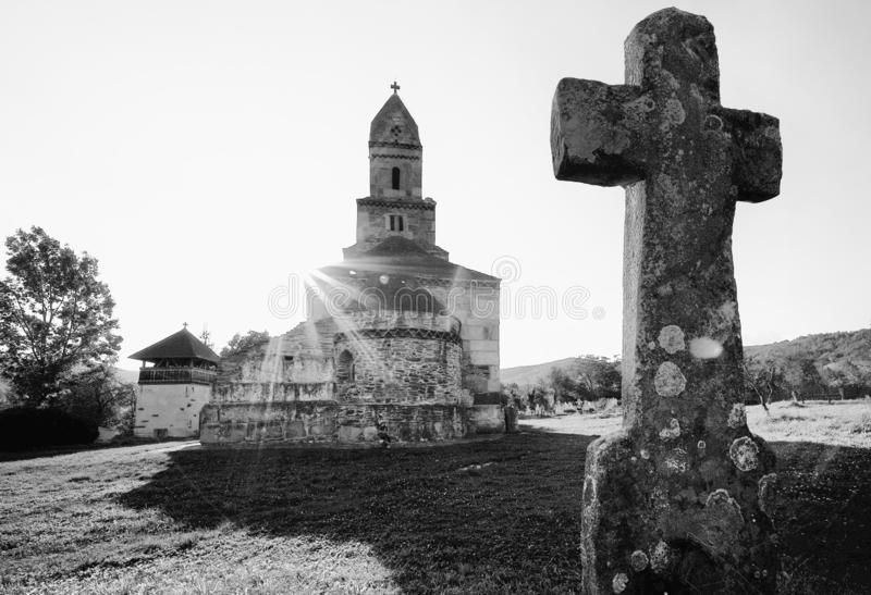 The Densus Church, also known as St Nicholas` Church, is one of the oldest Romanian churches still standing. royalty free stock photo