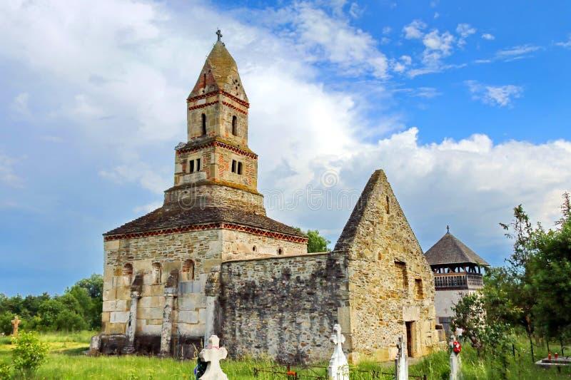 Stone Church in Romania stock photography