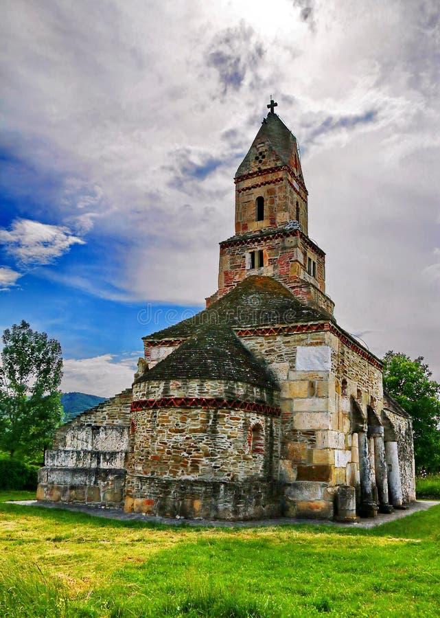 Densus Stone Church in Romania royalty free stock image