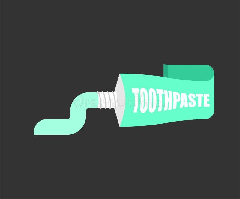 Dentífrico do tubo isolado Escove seus dentes vetor da Dente-pasta mim ilustração stock