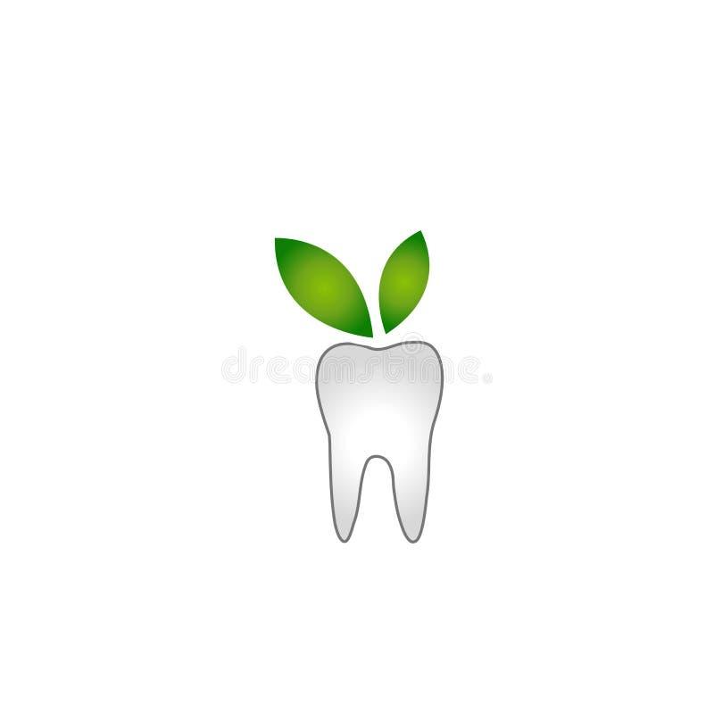 Dent abstraite avec les feuilles vertes illustration libre de droits