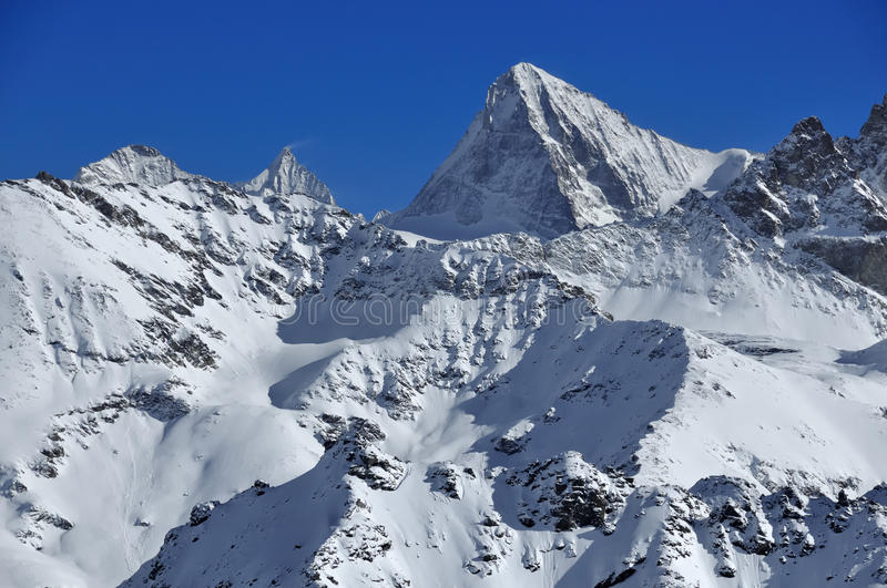The Dent Blanche. A classic alpine climbing peak, the dent blanche royalty free stock images