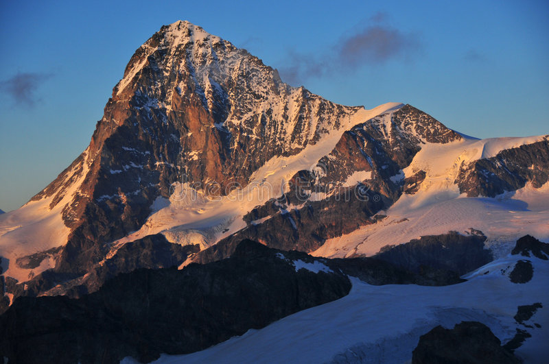 Dent Blanche at sunset royalty free stock photography