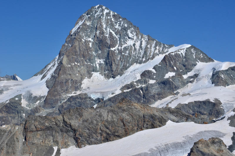 Dent Blanche. The west face of the Dent Blanche in the southern swiss alps close to Zermatt royalty free stock image