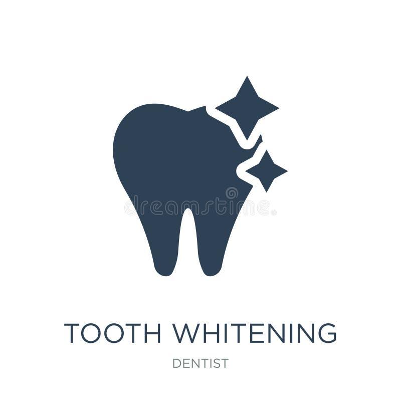 dent blanchissant l'icône dans le style à la mode de conception dent blanchissant l'icône d'isolement sur le fond blanc dent blan illustration libre de droits