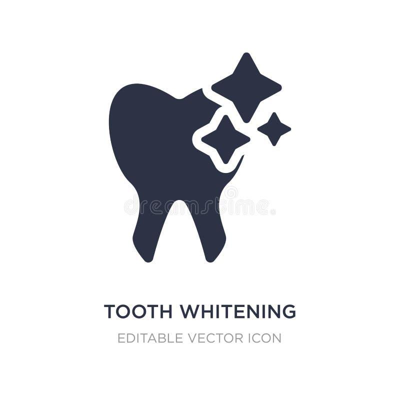 dent blanchissant l'icône sur le fond blanc Illustration simple d'élément de concept de dentiste illustration libre de droits