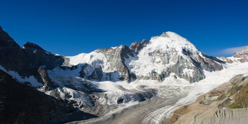 Dent d'H�rens. Mountain peak view from Schoenbielhuette, Zermatt, Switzerland royalty free stock photos
