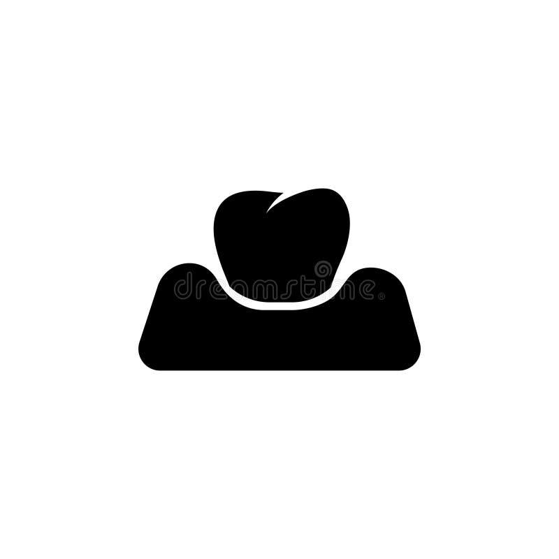 Dent dans la gomme, icône plate de vecteur de Periodontitis illustration libre de droits