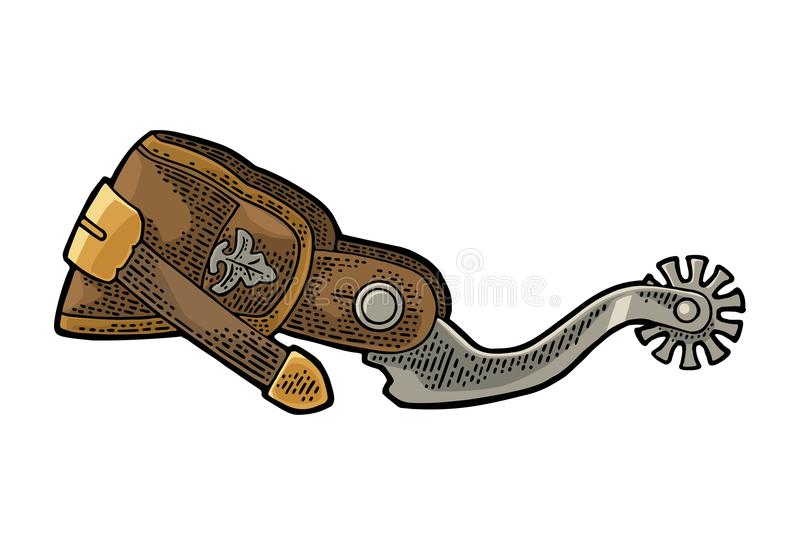 Dent de cuir et de métal Gravure de vintage illustration libre de droits