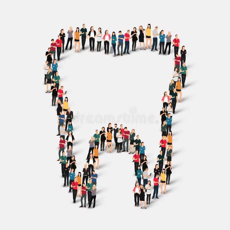 Dent de forme de personnes dentaire illustration stock