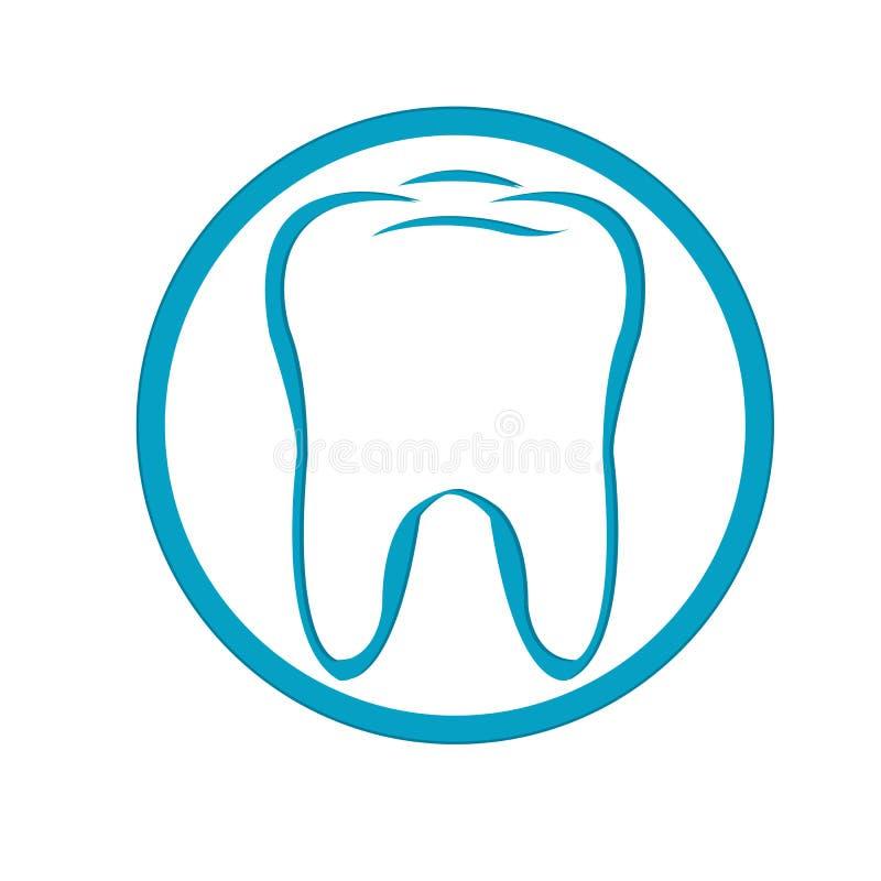 Dent de logo. Vecteur illustration libre de droits