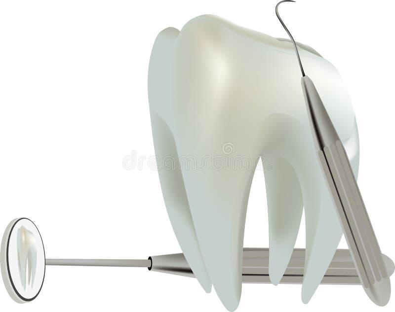 Dent de molaire de symbole illustration stock