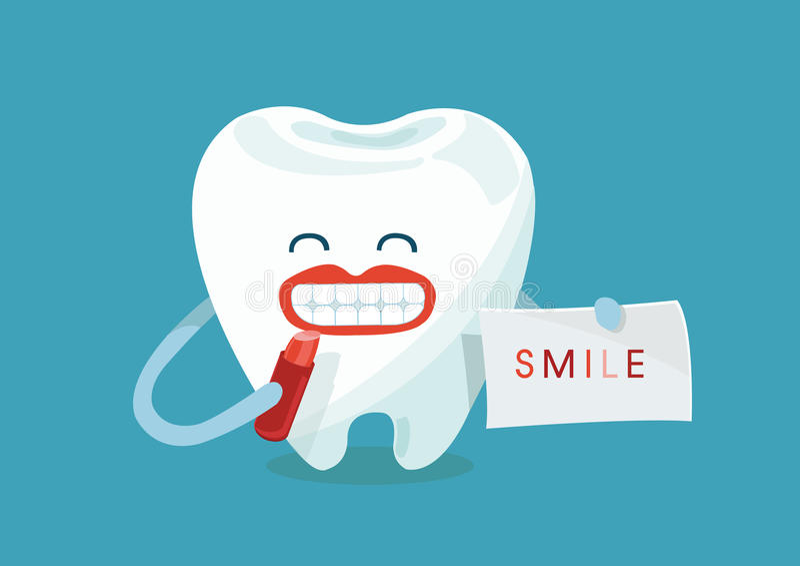 Dent de sourire illustration de vecteur