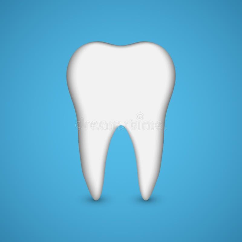 Dent de vecteur Concept dentaire de santé illustration libre de droits