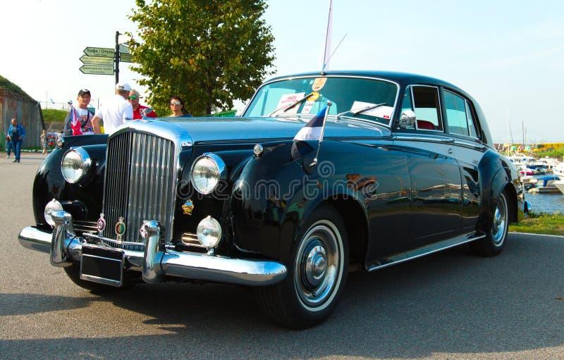 Dent de vol de salle de porte des Anglais Bentley Continental S2 4 de vintage photographie stock