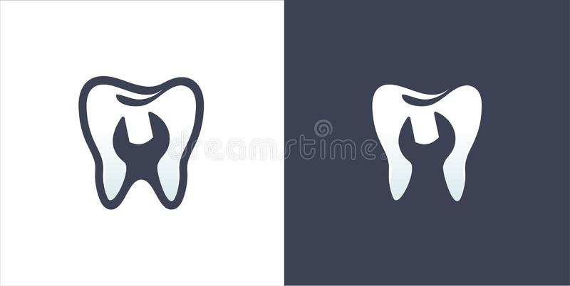 Dent dentaire illustration de vecteur