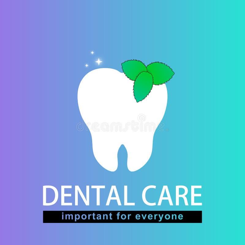 Dent et menthe Important pour chacun Fond illustration stock