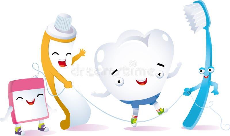 Dent heureuse illustration stock
